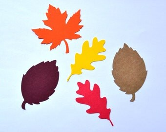 Fall Leaf Die Cuts - All Sizes - Autumn Leaf Die Cuts - Paper Leaves - Paper Leaf - Fall Leaves - Die Cuts - Fall - Autumn