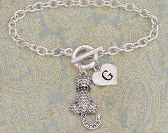 Custom Initial Cat's Back Bracelet