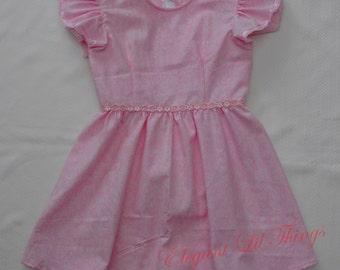 Toddler Pink Cotton Dress