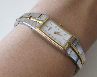 SEIKO JAPAN, Quartz, Two tone Women's Vintage watch