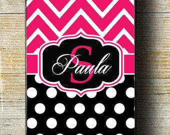 Pink and Black iPhone Case, Pink Chevron iPhone 5 case, chevron case, iphone case, iphone 7 case, iphone 6 plus case,