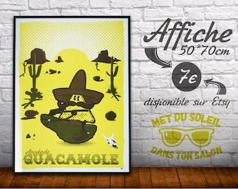 """Poster """"Apodado Guacamole"""" [50 * 70 cm] - now"""