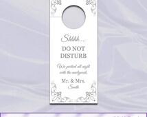 unique door hanger template related items etsy. Black Bedroom Furniture Sets. Home Design Ideas
