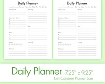 DAILY INSERTS (7.25 x 9.25 Inches) PDF for your Life Planner. Day on One Page. Instant Download. 2 printable documents.