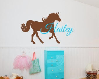 Horse Decal - Pony Decal - Vinyl Horse Decal - Vinyl Pony Decal - Horse Wall Decal - Custom Horse Decal - Personalized Horse Decal - Cowgirl
