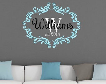 Family Name Wall Art last name wall art | etsy