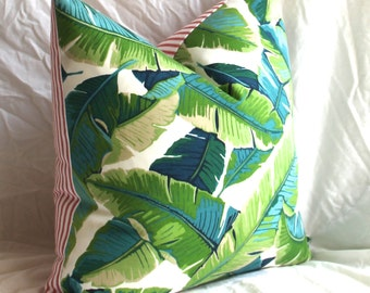 Tropical Pillow - Tropical Cushion Cover - Palm Leaf Pillow - Island Decor - Tropical Decor - Palm Pillow - Christmas - Swaying Palm Pillow