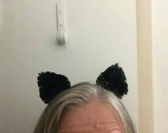 Kitty Cat Ears - Clip on Cat Ears - Cat Ears - Cat Ear Clips - Cat Costume - Kitty Costume Ears - Black Cat Ears - Cat Ear Barrettes