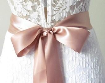 Natural Ribbon Sash / Double Faced Ribbon Sash / Bridal Sash / Bridal Ribbon / Natural