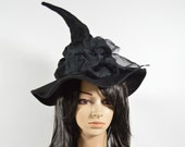 Witch Hat, Slouchy Hat, Halloween Witch Hat, Adult Witch Hat, Slouchy Wizard Hat, Made to Order
