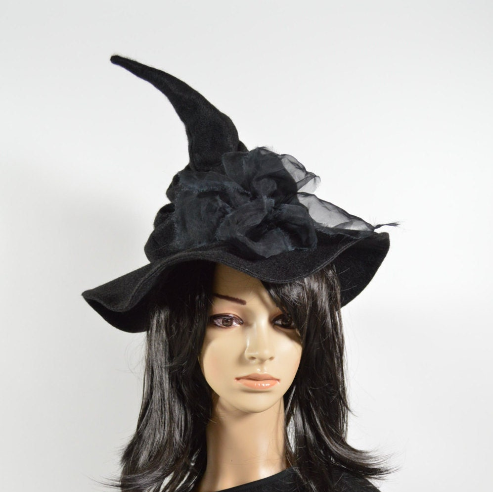 Witch Hat Slouchy Hat Halloween Witch Hat Adult Witch Hat