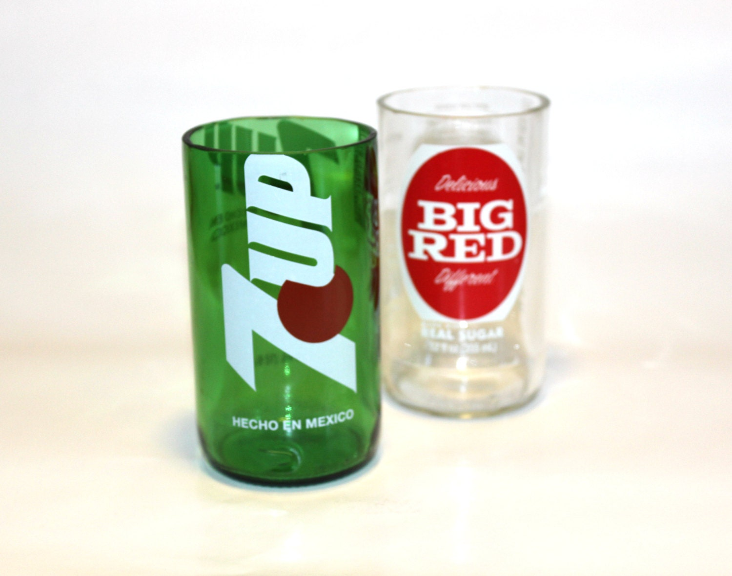recycled soda bottle drinking glasses tumblers set of 2