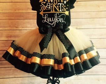 New Orleans Saints Cheerleader Tutu Costume