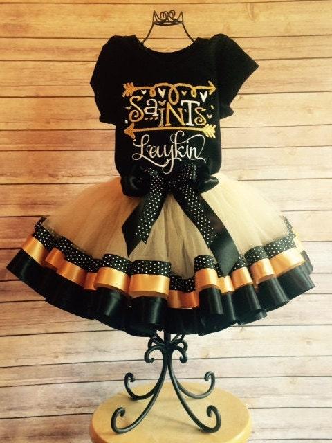 new orleans saints cheerleader tutu costume