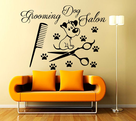 Grooming Salon Wall Decals Decal Vinyl Sticker Dog By
