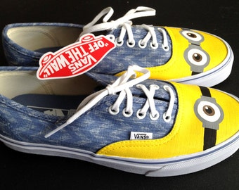 Made to order custom-painted Minion shoes on Vans