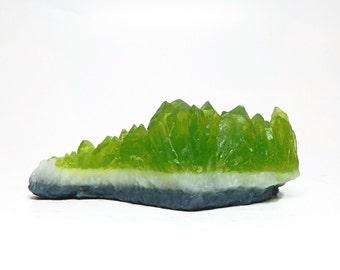 Peridot Quartz Crystal Soap - Choose your Scent