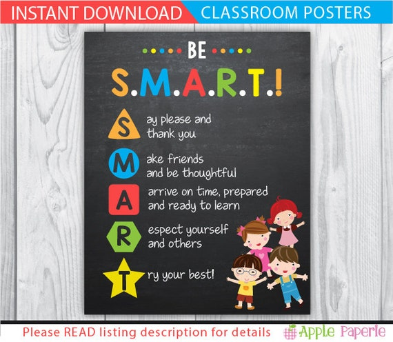 Classroom Decor Posters ~ Classroom decor posters rules poster