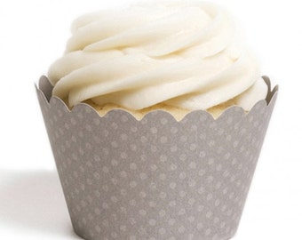 Stormy Grey Cupcake Wrapper (Set of 12)