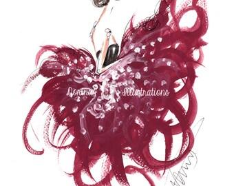 Princess art, Princess painting, Fashion illustration, Fashion art, Fashion wall art, Fashion sketch, Princess drawing,Watercolor painting,