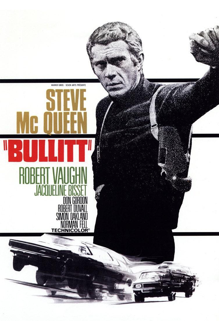 Bullitt Movie Poster Steve McQueen Crime Action Adventure