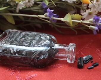 Black Tourmaline-Schorl in a Bottle