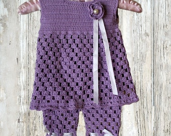 Baby Top with Shorts , Tunic and Shorts , Crochet Pattern