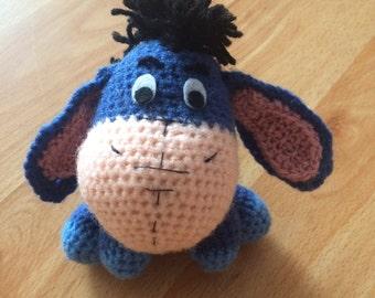 Eeyore Crochet Doll