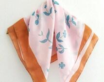 Flower silk scarf Silk scarf Square Silk Scarf Handmade silk scarf, Hand painted scarf Floral scarf Small silk scarf Unique scarves Scarfs