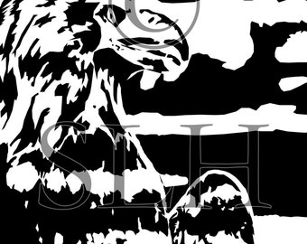 Eagle Black and White- Large Wall Art