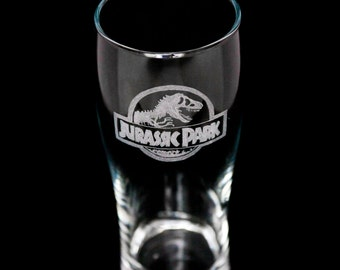 Jurassic Park  Themed Pint Glass