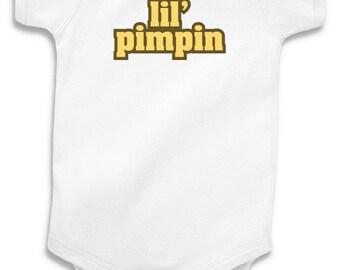 Lil' Pimpin Baby Onesie