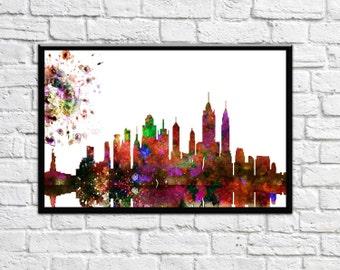 New York City Skyline, Art Print