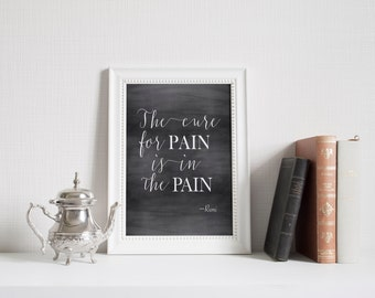 Rumi quote Chalkboard quote Motivational quote Typography print spiritual quote Zen decor Typography Art Modern Home decor wall art print