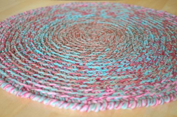 Runden häkeln Wolle Teppich Farben rustikale Teppich vo