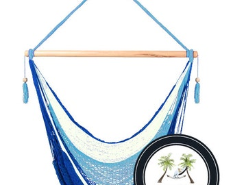 Sky Hammock Chair - 100% Hand Woven - Perfect for one child, teen or adult!