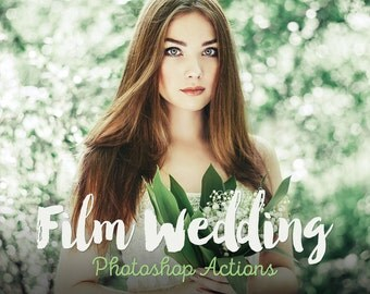 Film Wedding Photoshop Actions Professional Collection Wedding film actions Photoshop CC actions wedding Best actions INSTANT DOWNLOAD