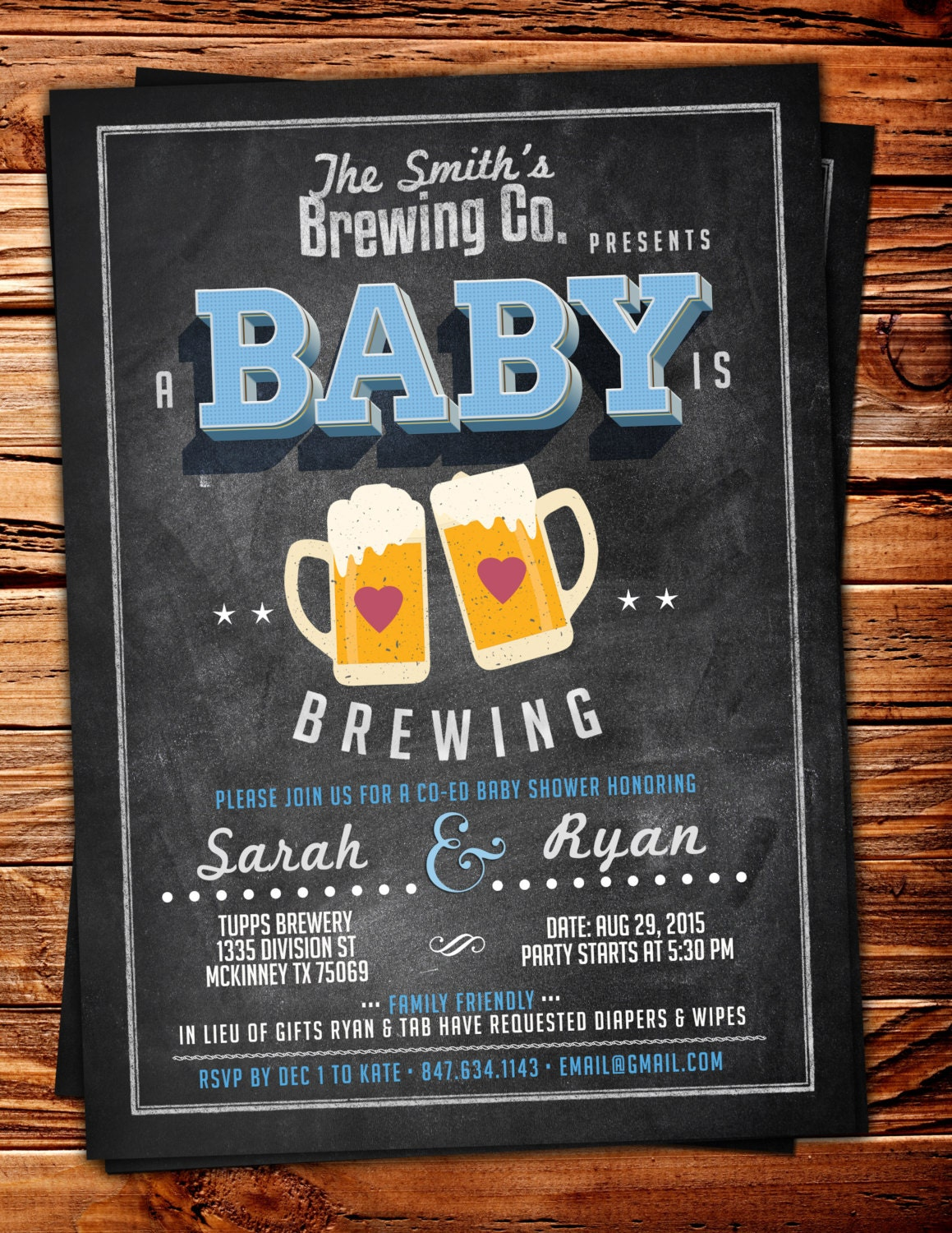 coed baby shower invitation beer baby shower invitation