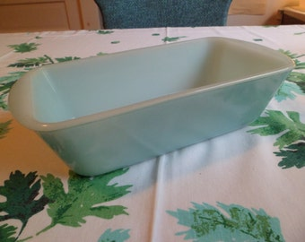 Vintage Glasbake Aqua Blue Loaf Pan 1-1/2 Quart~Nice and Shiny!