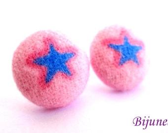 Star earrings - Yellow Star studs - Star sky- Stars - Cute Star earrings - Star post earrings - Star stud earrings sf557