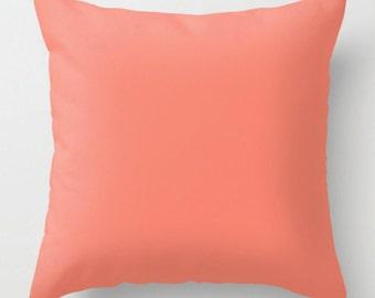 Coral Pillow | Decorative Pillow | Throw Pillow | Couch Cushion | Sofa Pillow | Coral Cushion | Coral Room Decor | Coral Toss Pillow