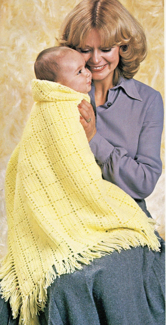 baby crochet shawl crochet pattern square shawl fringe by ...