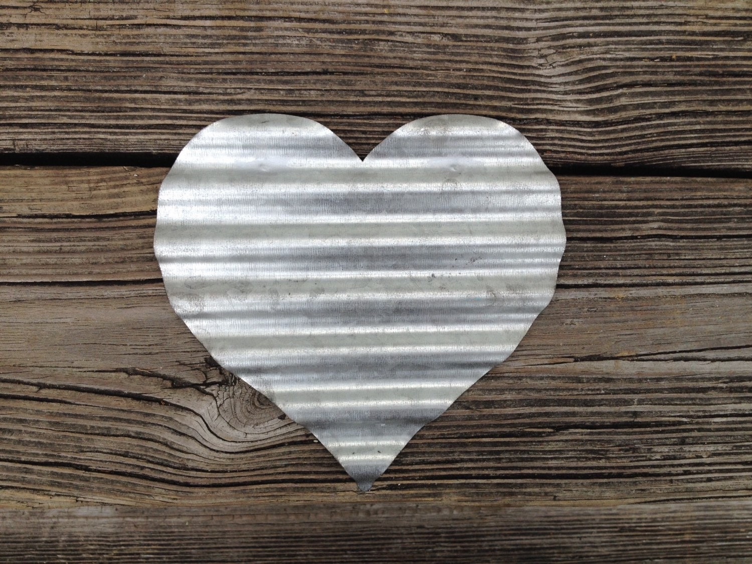 Galvanized metal heart primitive wall decoration wedding zoom amipublicfo Images