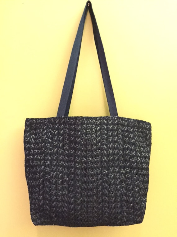 SALE! Tote bag with pockets.  Gold and black dressy tote with black handle.  Great gift for any occasion!