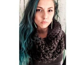 Gray Scarf, Chunky Crochet Scarf, Oversized Scarf, Chunky Knit Scarf, Winter Scarf, Crochet Cowl, Knit Cowl, Chunky Crochet Cowl
