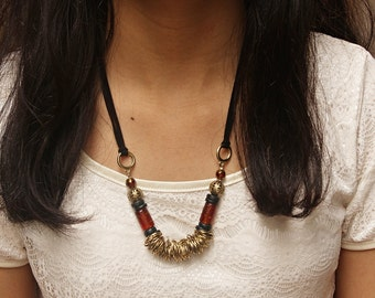 Adjustable long tribal necklace