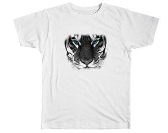 Kids Tiger Shirt Tiger Tshirt Tiger T Shirt Tiger Tee Animal Shirt Tiger Clothing Tiger Top Animal Tshirt Tiger Birthday Animal Tee