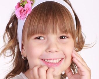 flower hair accessories, flower headband with pink hydrangea, women girl accessories, flowergirl accessory, pink headband for girl