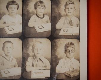 Antique School Photograph (c.1920's 30's)   Vintage Class Picture   20th Century School   Film Prop, Display Decor