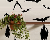 Hanging and Flying Bats ~ Qty 10 - Wall or Window Decal